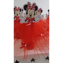 30 Tubete Minnie Vermelha Luxo Festa Decoração Lembrancinhas