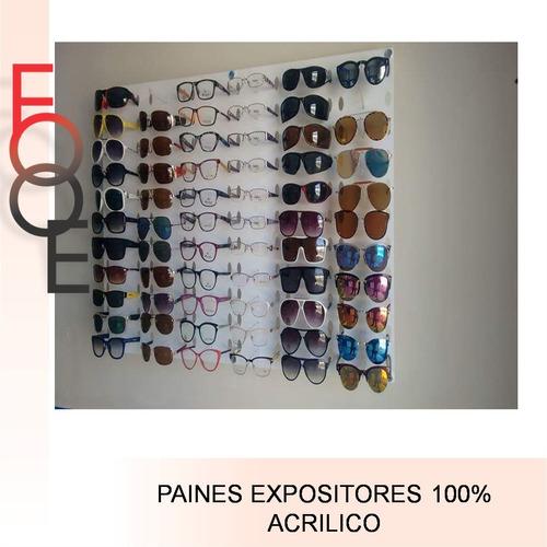 9d4038d205506 Expositor 66 Oculos Acrílico Branco Transparente 67x100. R  339.99