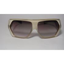 Oculos Evoke Original Amplidiamond Offwhite Brown Gold Brown