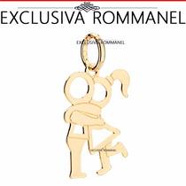 Rommanel Pingente Casal Namorados Folheado Ouro 18k 541829