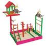 Poleiro Brinquedo Parque Para Calopsita Com Casa-mega Oferta