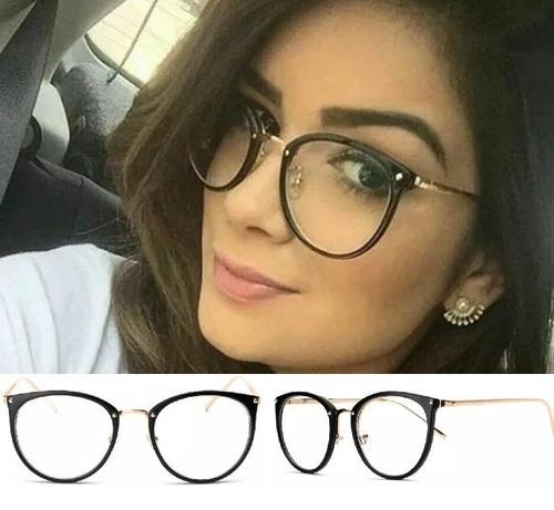 Oculos De Grau Feminino Armação Em Acetato Geek Vintage Gato 8e8aa11472