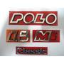 Kit Emblemas Polo Classic 1.8 Mi - 1991 Até 1997