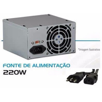 Fonte Wisecase 220w Reais - Ws-500-p42s 24 Pinos - Novo