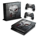 Skin Ps4 Fat Adesivo Playstation 4 Punisher Justiceiro B