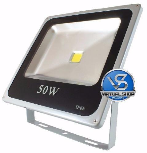 Refletor Led 50w Holofote Bivol A Prova D'água Brando Frio