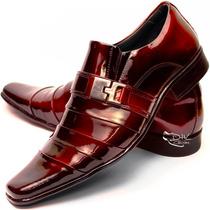 Sapato Social Couro Envernizado Masculin Franca Dhl Calçados