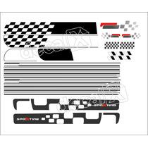 Kit Adesivos Fiat Uno Sporting 2 Portas - Decalx