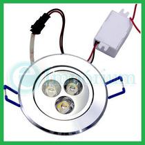 Spot Lâmpada Super Led 3w Bivolt Aluminio Gesso Branco/quent