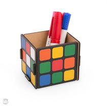 Porta Objetos/ Lápis/ Trecos Cubo Magico Mdf Escritório