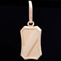 Pingente Placa Com Faixa Em Ouro 18k - 750 - 0,38grs