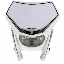 Farol Moto Universal Protork Branco