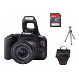 Canon Rebel Sl3 C/ Lente 18-55 Is Stm+ 32gb+ Bolsa+ Tripé