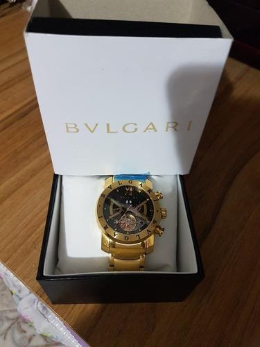 7c7e3860078 Relogio Dourado Iron Man Bv Bullgari Masculino Dourado D576 - R  368 ...