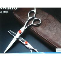 Kit Tesoura Japoneza Profissional Luxo Cabeleireiro Barbeiro