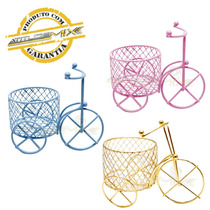 Kit 12 Mini Triciclos Aramados Com Cesto Lembrança Decoração