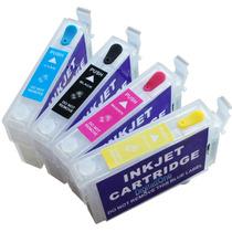 Kit Cartucho Recarregável Tx115 Tx105 T23 T24 +140ml Ink