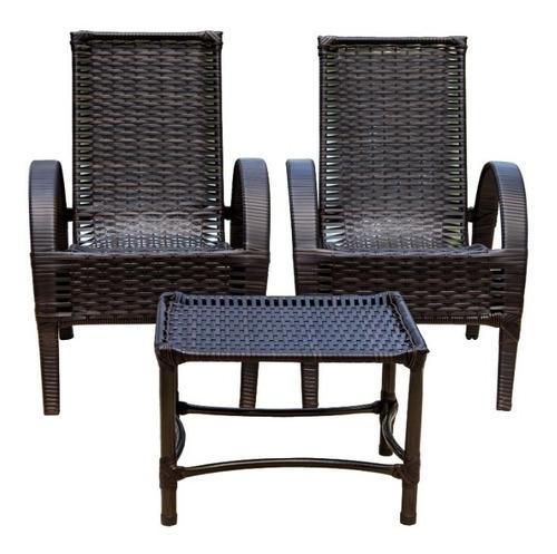Jogo Cadeira Vime,varanda,área,jardim,sala De Estar