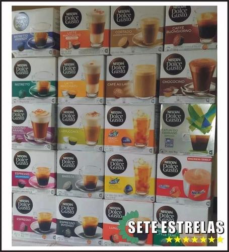 Kit 100 Capsulas Nescafé Dolce Gusto Cápsulas Sabores!!!