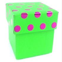 Kit Com 10 Caixas Presente De Papelão Verde Pink Brilhante