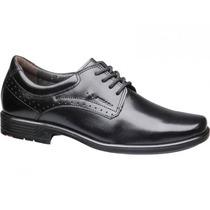 Sapato Social Couro Masculino Confortável Pegada