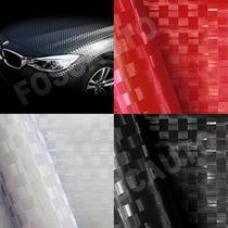 Adesivo Envelopamento Tipo Fibra De Carbono Textura 3d Pixel