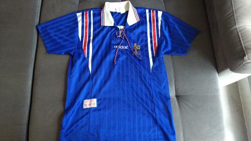 Camisa Oficial Da Seleção Da França De 1996 adidas Raridade 297a87feb4108