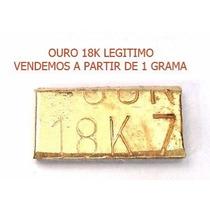 Barra Ouro 18k Verdadeiro Com Certificado 1g Legitimo!