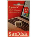 Pen Drive 32gb Sandisk Ultra Mini Cruze Fit Original Lacrado
