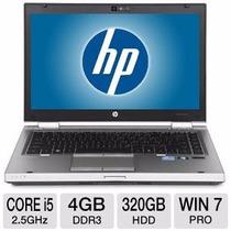 Notebook Hp Elitebook 8460p + I5 + 4gb Ddr3 + 320gb Vitrine!