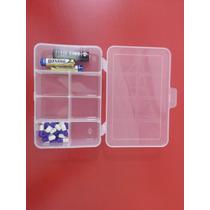 Caixa Organizadora Pequena Plástica Com Tampa 7 Divisões 40x