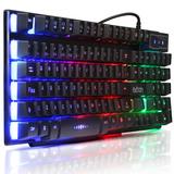 Teclado Semi Mecanico Gamer Usb Pc Computador Abnt2 Luminoso
