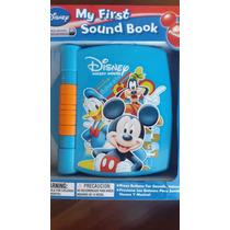 Livro Infantil Do Mickey Com Som De Objetos E Animais