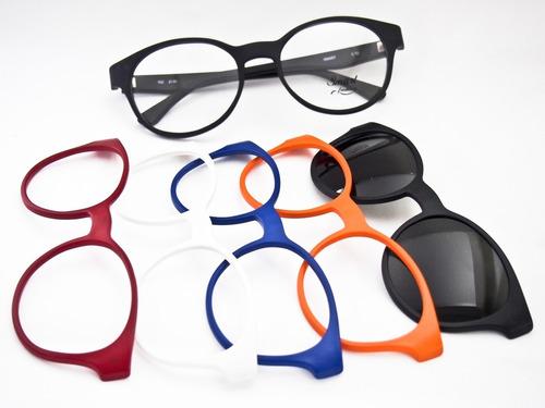 fb1a1db57f2c6 Armação Para Óculos Smart Troca Frente 932 Novidade. R  198