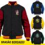 Jaqueta Harry Potter (todas Casas) Moletom Blusa College
