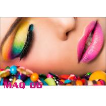 Adesivo Painel Poster Salao Maquiagem Make Up Maq06