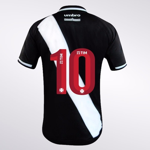 Camisa Jogador Vasco Oficial 1 2017 2018 Número 10 Umbro d6688fd1ddd80