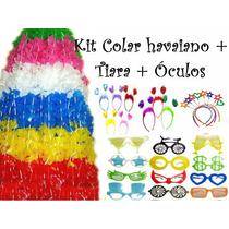 Kit 30 Colar Plástico + 15 Tiara + 15 Óculos Frete Grátis