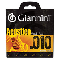 Corda Violão Aço Giannini 010 Geswam + Brinde