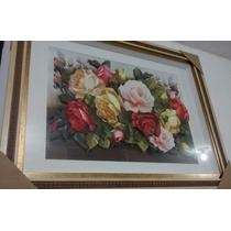 Quadro Lindas Flores Arte Francesa 67 X 86 Promoção