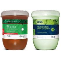 Kit Gel Redutor + Creme Termo Ativo Ecofloral D´agua Natural