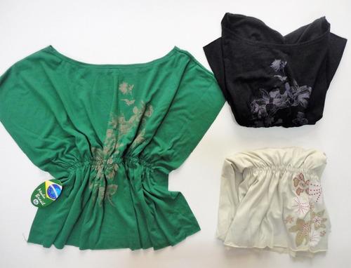 05caf78978 Kit 10 Blusas Camisetas Manga Curta Liquida Estoque
