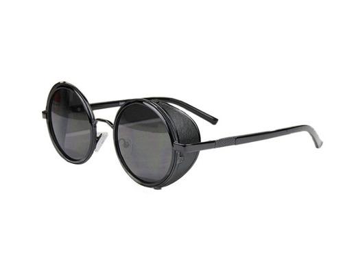 5047cd4d0cd0d Óculos Sol Redondo Circular Steampunk Vintage Retrô Uv400