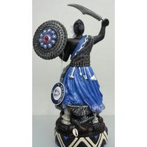Imagem De Resina De Ogum Africano Umbanda Candomblé