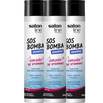 Kit 3 Shampoo Sos Bomba - Salon Line