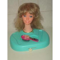 Barbie Cabeça De Boneca P/ Pentear E Maquiar - Estrela