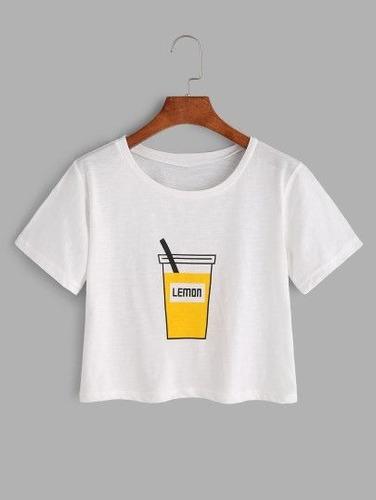 e699225839 Camiseta Cropped Lemon Estilo Tumblr Blusinha Feminina à venda em ...