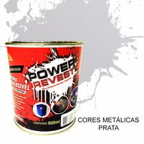 Envelopamento Liquido Power Revest - Prata Metalico Lata 1/4