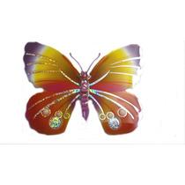 Adesivo De Parede Borboleta 3d Com Glitter Sortido