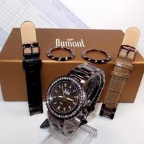 Relógio Dumont Vip Feminino 3 Pulseiras 3 Catracas Sk60027r